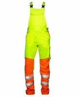 Reflexné montérkové nohavice SIGNAL s náprsenkou Hi-Vis predĺžené (194 cm)