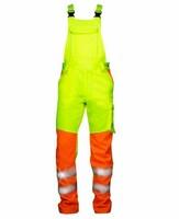 Reflexné montérkové nohavice SIGNAL s náprsenkou Hi-Vis skrátené (170 cm)