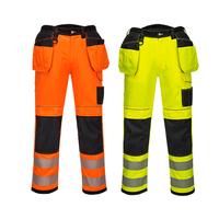 Reflexné monterkové nohavice T501 PW3 Hi-Vis do pása