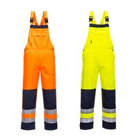 Reflexné monterkové nohavice TX72 GIRONA Hi-Vis s náprsenkou