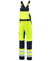 Reflexné nohavice BIB & BRACE BICOLOR Hi-Vis s náprsenkou unisex (Nr.T68)