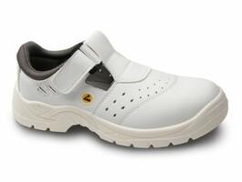 Sandále bezpečnostné BERN S1 ESD biele