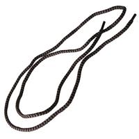 Šnúrky do topánok guľaté 120 cm čierno-sivé