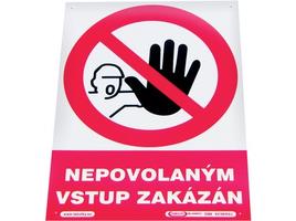 Tabuľka nepovolaným vstup zakázaný