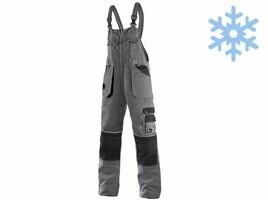 Zateplené montérkové nohavice CXS ORION KRYŠTOF s náprsenkou