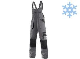Zateplené montérkové nohavice CXS ORION KRYŠTOF s náprsenkou predĺžené (194 cm)
