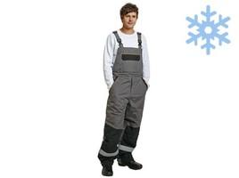 Zateplené montérkové nohavice EMERTON s náprsenkou predĺžené (176-200 cm)