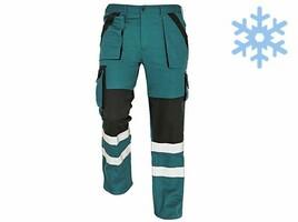 Zateplené montérkové nohavice MAX WINTER REFLEX do pása