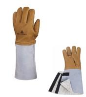 Zateplené pracovné rukavice CRYOG celokožené vodeodolné
