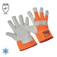 Zateplené pracovné rukavice CURLEW WINTER kombinované