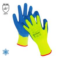 Zateplené pracovné rukavice DAVIS máčané v latexe