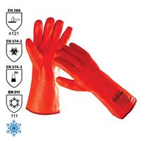 Zateplené pracovné rukavice FLAMINGO máčané v PVC