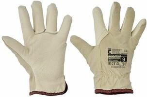 Zateplené pracovné rukavice HERON WINTER celokožené