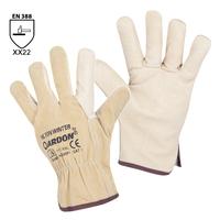 Zateplené pracovné rukavice HILTON WINTER celokožené