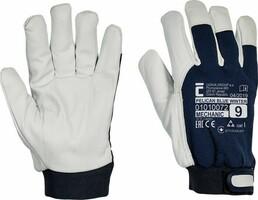 Zateplené pracovné rukavice PELICAN BLUE WINTER kombinované