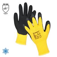 Zateplené pracovné rukavice PETRAX máčané v latexovej pene