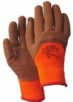 Zateplené pracovné rukavice RECOWINTER FOAM máčané v latexovej pene