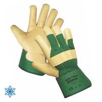 Zateplené pracovné rukavice ROSE FINCH zelené (pánske)
