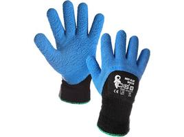 Zateplené pracovné rukavice ROXY BLUE WINTER máčané