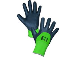 Zateplené pracovné rukavice ROXY DOUBLE WINTER máčané v penovom nitrile