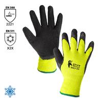 Zateplené pracovné rukavice ROXY WINTER máčané v latexovej pene