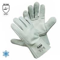 Zateplené pracovné rukavice SNIPE WINTER celokožené