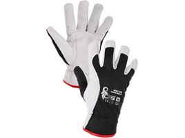Zateplené pracovné rukavice TECHNIK WINTER kombinované