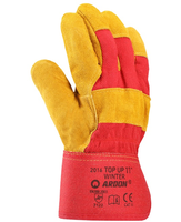 Zateplené pracovné rukavice TOP UP WINTER kombinované (s blistrom)