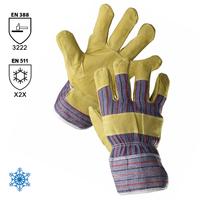 Zateplené pracovné rukavice ZORO WINTER kombinované