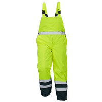 Nohavice PADSTOW s náprsenkou zateplené reflexné žlté 3XL