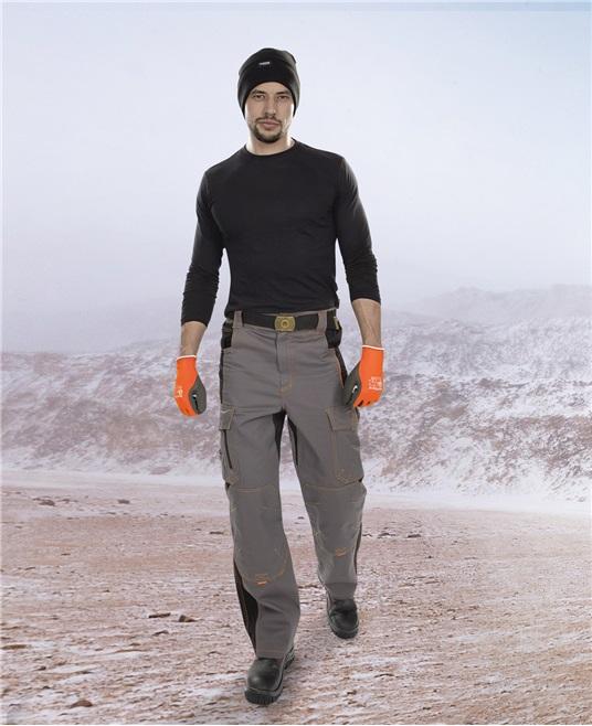 Pracovné odevy- Nohavice VISION WINTER do pása sivo-čierna M e65eb951d9