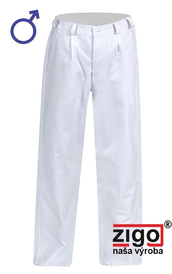 2a5da0c6a0b2 Pracovné odevy- výroba ZIGO Nohavice PATRIK guma-pás biele č.42