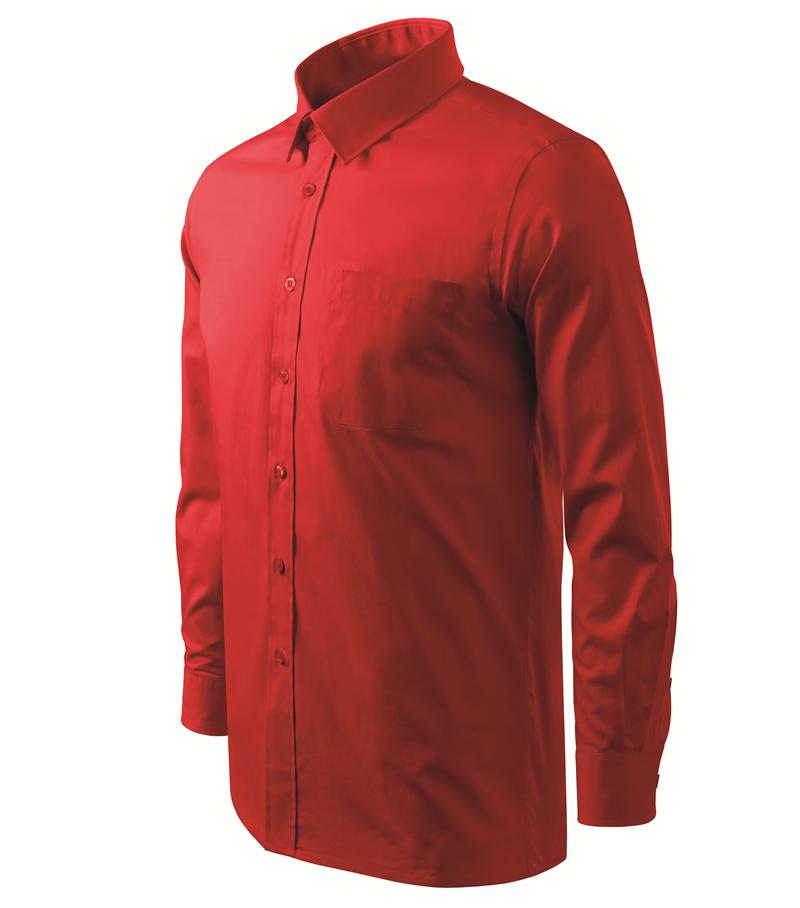 00cd44cb8b80 Adler Košeľa SHIRT STYLE 125g dlhý rukáv pánska červená XXXL