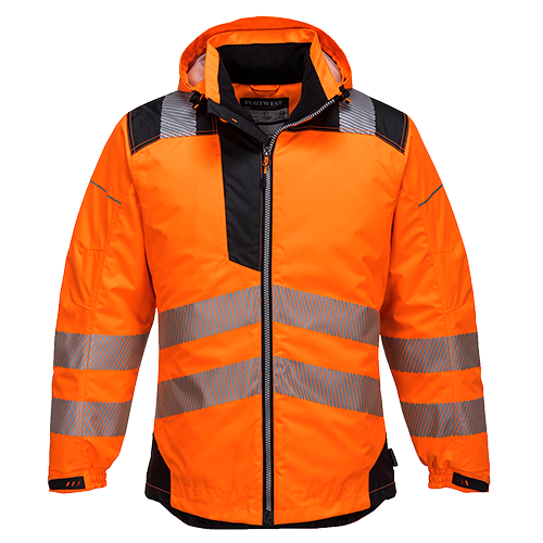 0df9b7874b Portwest Bunda do dažďa T400 VISION PW3 Hi-Vis reflexná oranžovo ...
