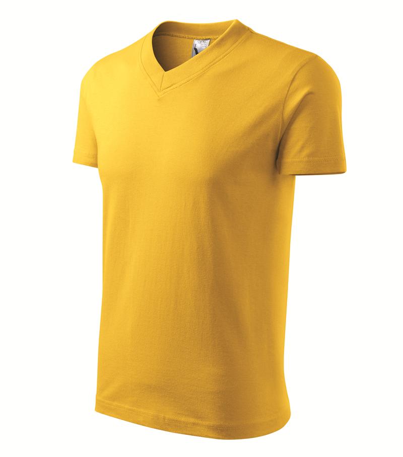 Pracovné odevy- Tričko V-NECK 160g unisex žltá S 5eedc25649