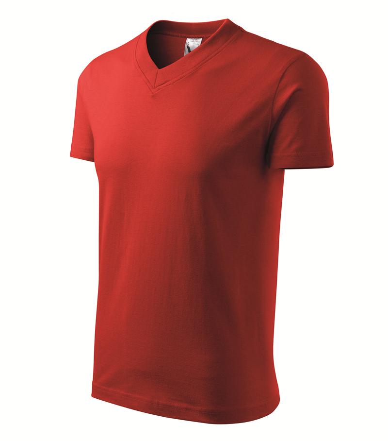 Pracovné odevy- Tričko V-NECK 160g unisex červená XXL a1446f3a74