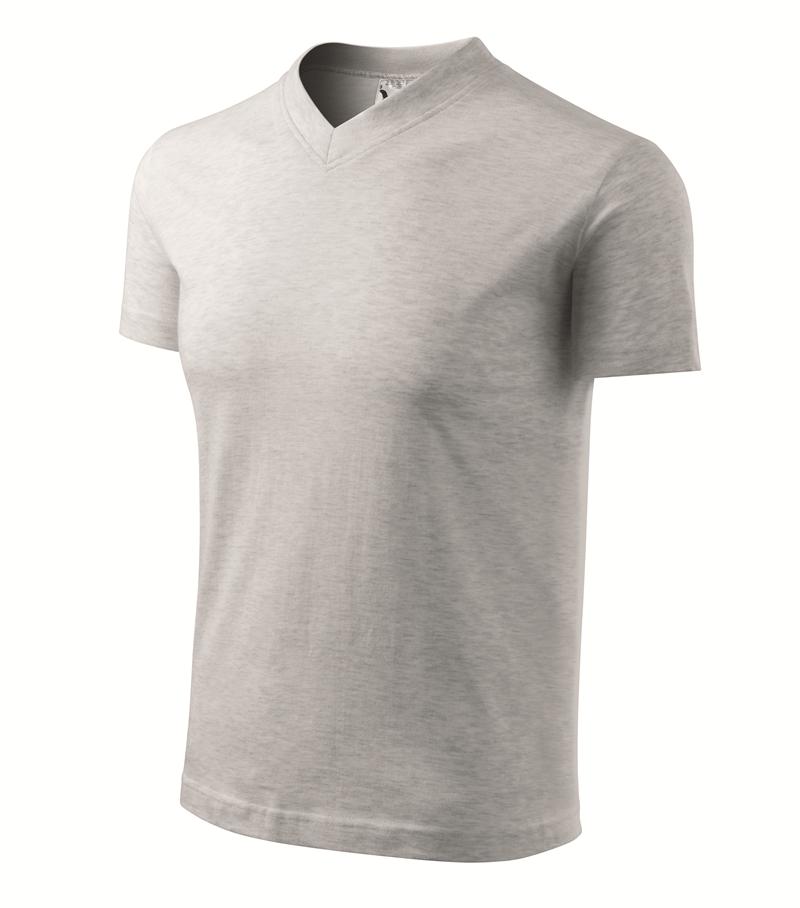 Pracovné odevy- Tričko V-NECK 160g unisex svetlosivý melír XXL c483d01358