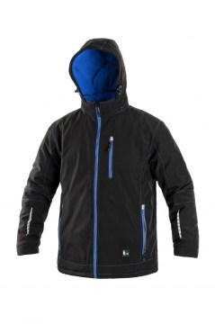 e35947d1fbc Bunda KINGSTON softhsellová zateplená čierno-modrá XL